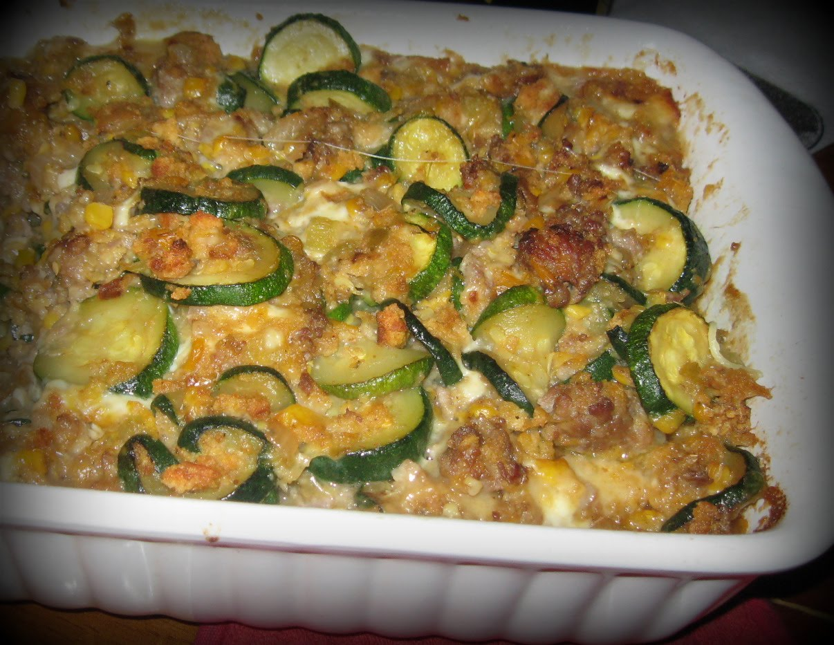 Sausage Zucchini Casserole | Frugal Feasts
