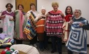 Knitting Circle donations to Project Linus