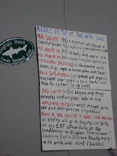 List of Dogfish Head Beers - EBF 2009