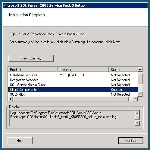 Sql server 2005 service pack 3 sp3