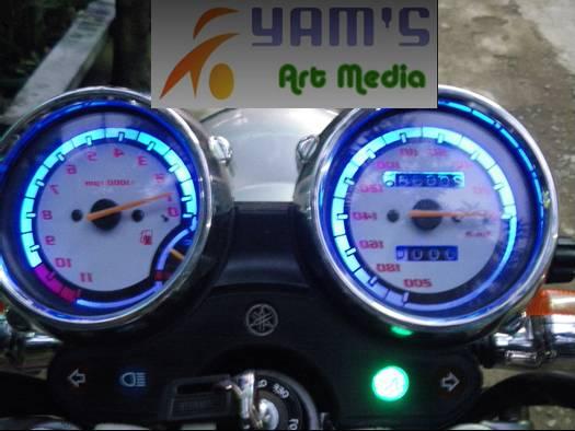 Speedometer Scorpio biru
