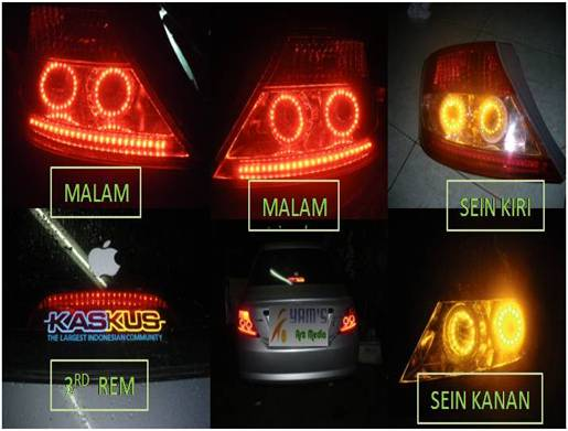 Led's Honda City  2004