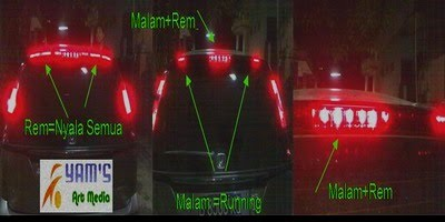 Stop Lamp +  Running LED Honda Stream