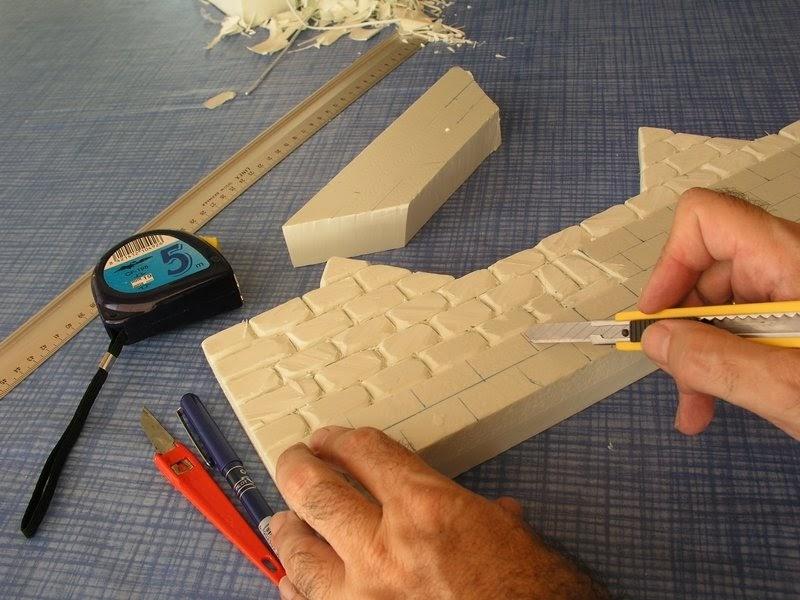 T cnicas para crear belenes nacimientos misterios muros - Planchas de poliestireno extruido ...