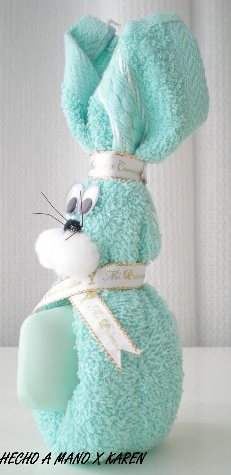 coelho feito com toalha de felpo CONEJO+TOALLA+1