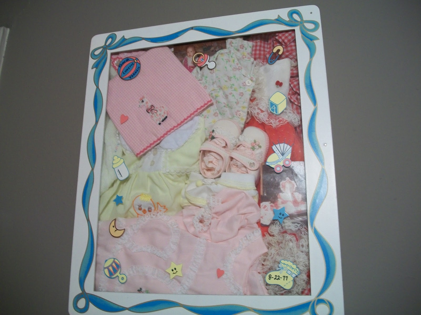 Cats Kids And Crafts Baby Shadow Box