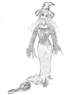 free barbie halloween coloring pages - photo#30