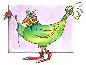 [green+bird]