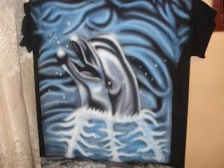 Aerografia, delfin