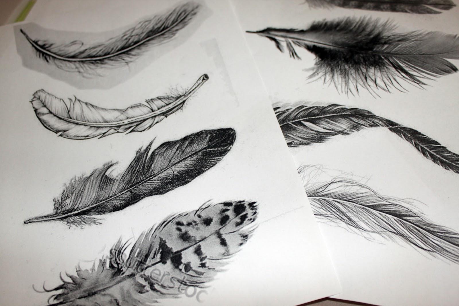 45 feder tattoo ansatz tatoos. Black Bedroom Furniture Sets. Home Design Ideas