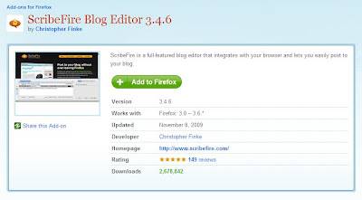 Tips Menulis Posting Blog Dengan ScribeFire Blog Editor