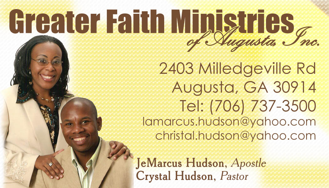 crystal hudson pastor back of the business cards - Pastor Business Cards