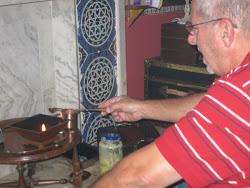 Enciendo el Fuego de la Terpia Homa porque el fuego es LUZ.