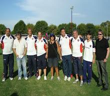 El cuerpo técnico del equipo campeón
