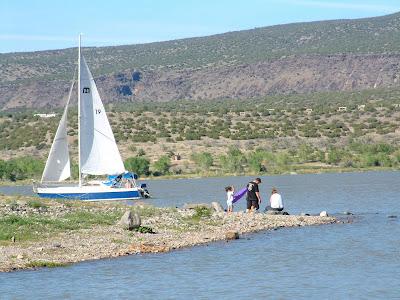 Outdoors nm road trip nm cochiti lake for Santa fe dam fishing