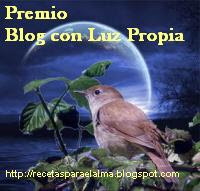 Premio Blog con luz propia.