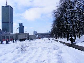 warsaw warszawa palac kultury i nauki winter snow blizzard Poland centralna centrum