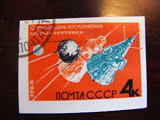 soviet stamps space program sputnik cosmonauts