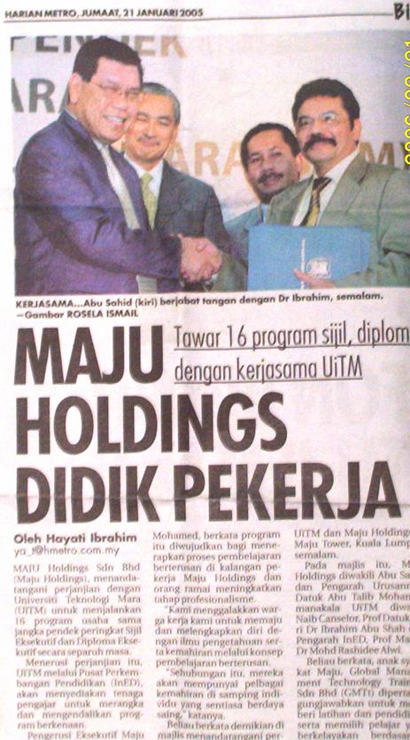 MOU diantara Maju Holdingsan UiTM