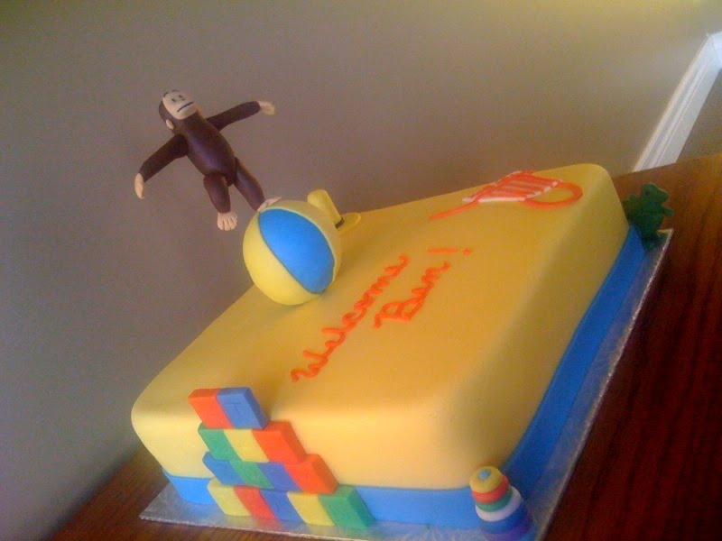 Curious George Bathroom by Inthemix Curious George. 28    Curious George Bathroom     37 Best Baby Shower Cakes Images