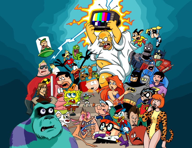 cartoon characters pictures. Cartoon Characters Playing