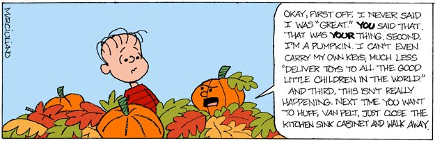 It's The Great Pumpkin Charlie Brown Quotes Prepossessing Popped Culture It's The Great Pumpkin Charlie Brown The Reckoning