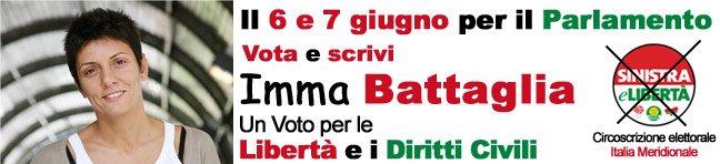 Vota Imma Battaglia alle Elezioni Europee 2009