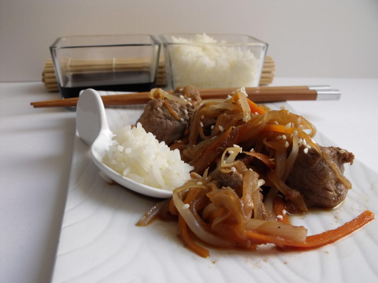 la ternera al wok de casa cocinar es ponerse