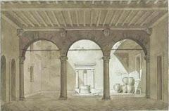 Cortile e loggia a Lucca (1860 circa)