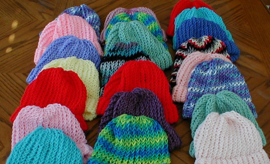 Loom Knitting For Kids : Karens crocheted garden of colors loom knitted baby hats