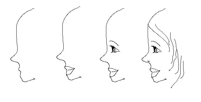 lottierrox art   drawing a face from the side  the easy steps