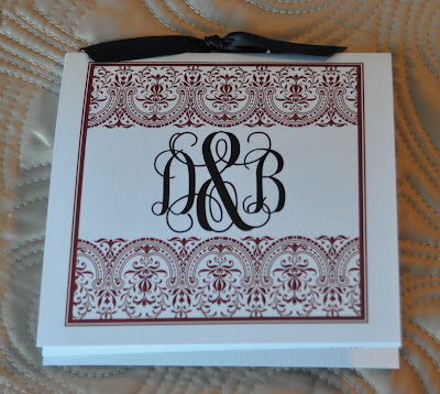 Layout Anna Wedding Program Ink Color Black Paper Natural Linen Cover