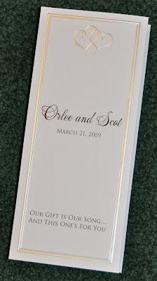 Layout Platinum Hearts Tri Fold Wedding Programs Ink Color Black Script Font Mea Culpa Block Trajan