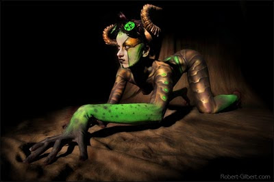Minotaur Girl Body Painting