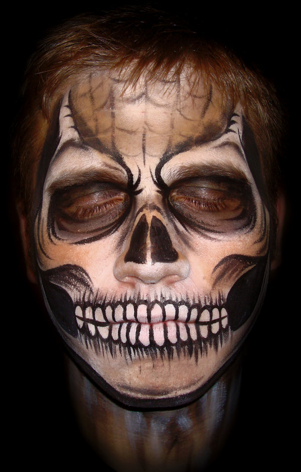 Scary Halloween Face Painting http://bodypaintingmax.blogspot.com/2010/10/halloween-face-painting-2.html