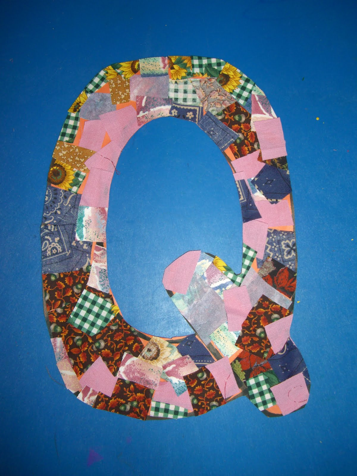 letter q art projects quilted q just a fun craft we