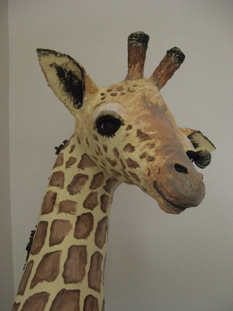 art dolls paper mache giraffe completed