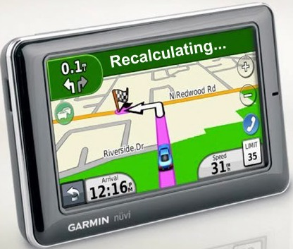 Recalculating aka the gps sermon