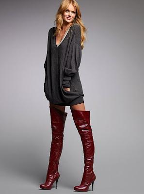 Victoria's Secret 2010 Diz Üstü Çizme Modelleri