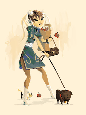 The art of Kevin Dart, californian illustrator, Chun Li Modern Woman