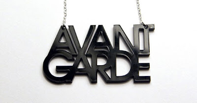 Fashion: typography Necklaces for designers,
