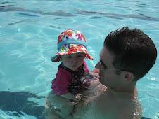 Hadley's 1st swim