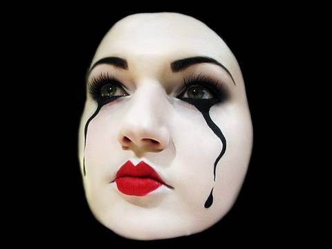 mime make up on pinterest mime makeup clowns and halloween makeup. Black Bedroom Furniture Sets. Home Design Ideas