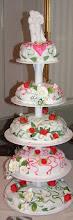 Vår bröllopstårta som jag gjorde