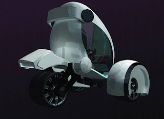 Modern Airwaves Futuristic Compact City concept car