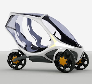One seater urban city vehicle futuristic Concept Car