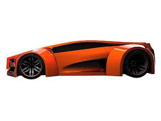 Type Futuristic 3ds Max concept car for future