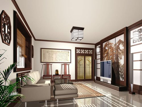 Modern chinese interior decoration home interior design for Asian interior design