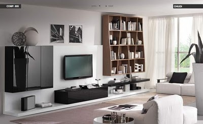 White Black Living room