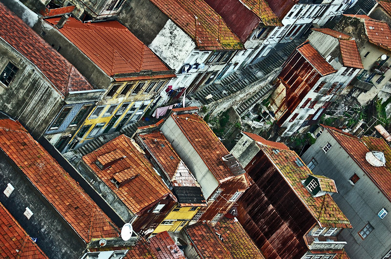 oporto decadencia edificios vista aerea portugal